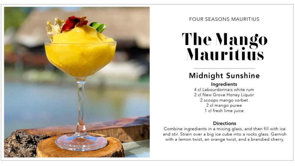 Mauritius Cocktail Recipe Card