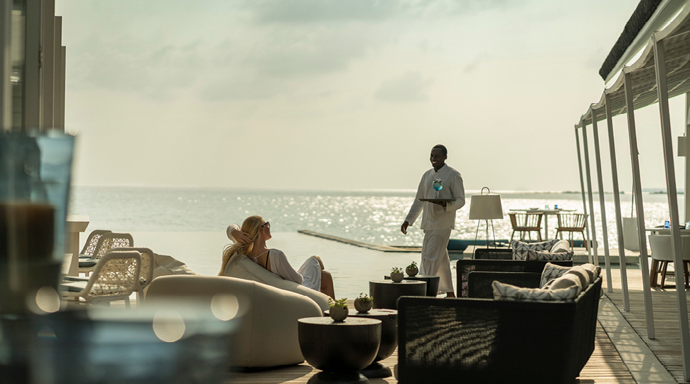 Outdoor Lounge At Blue Beach Club