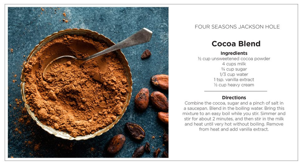 Jackson Hole recipe card cocoa