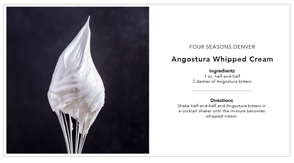 Angotura Whipped Cream Cocktail Recipe Card Template