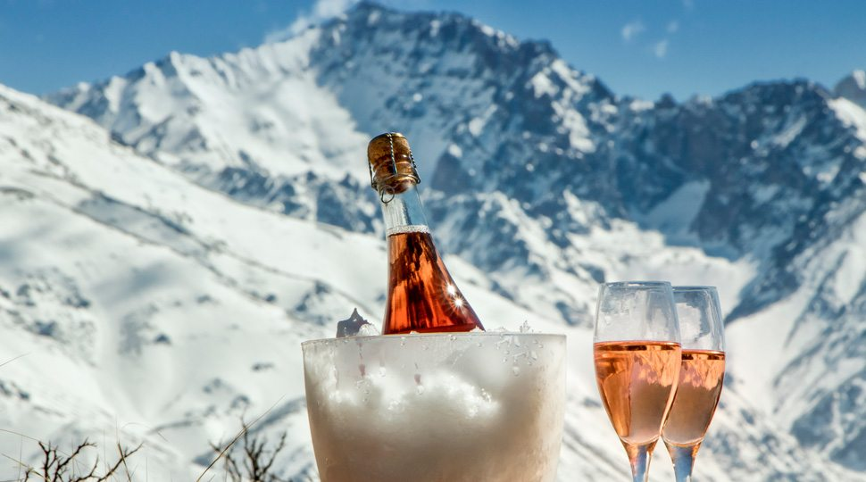 Champagne on the mountain top