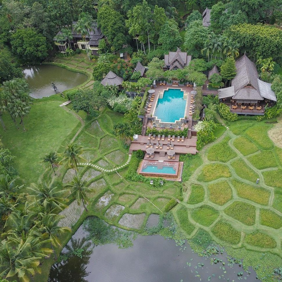 Chiang Mai aerial view of resort