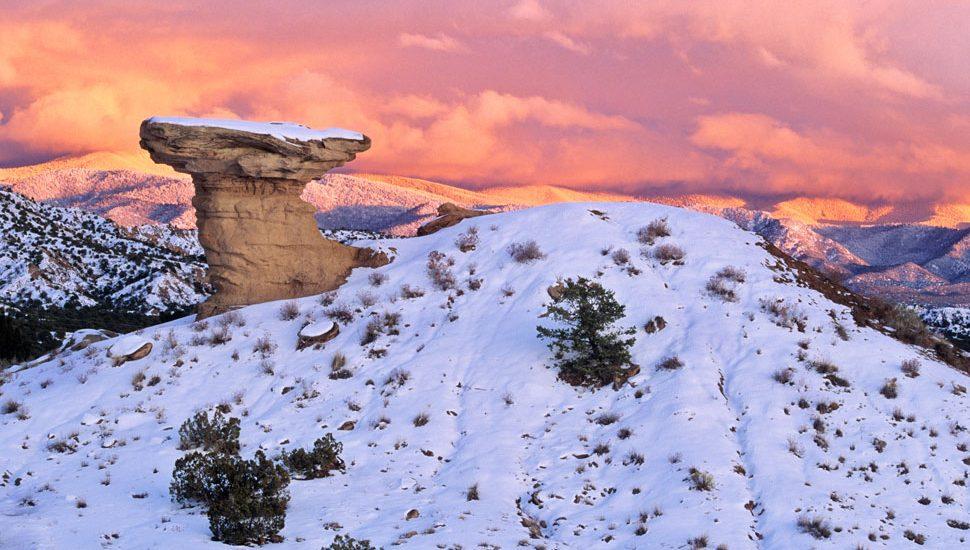 A landmark in the Sangre de Cristo Mountains near Santa Fe, New Mexico