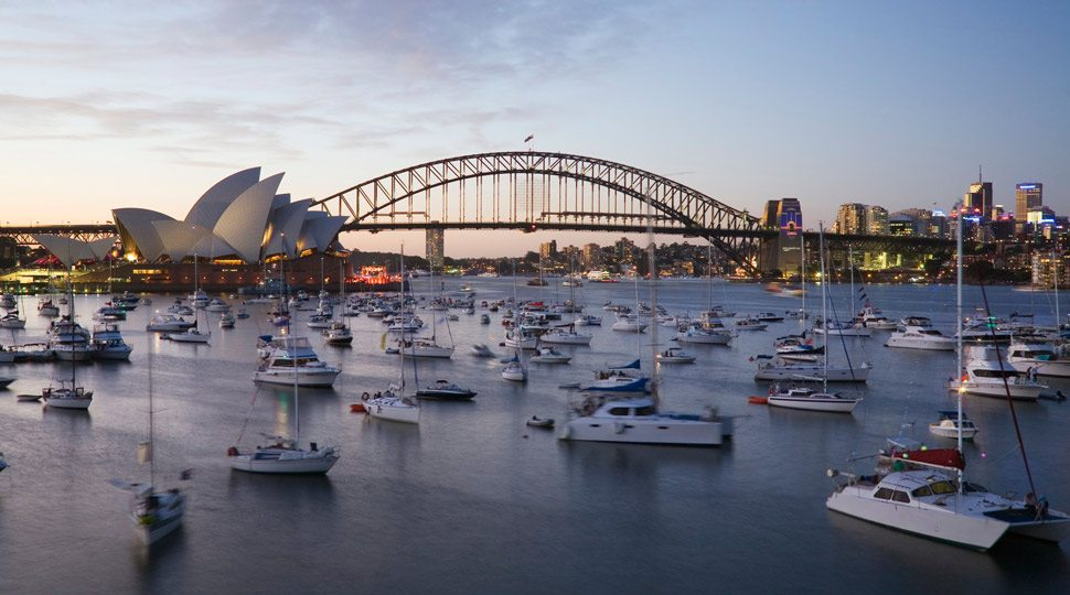 Boats in Sydney Harbour