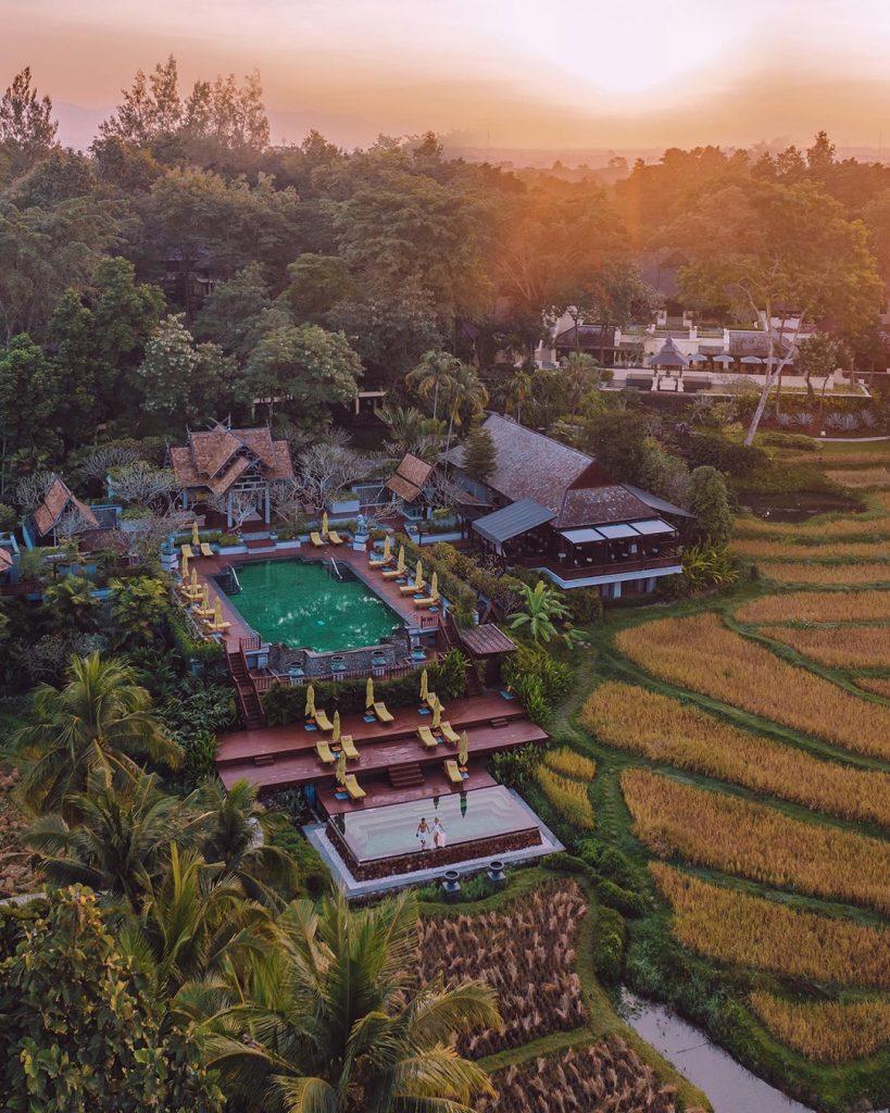 Aerial view of Four Seasons Resort Chiang Mai