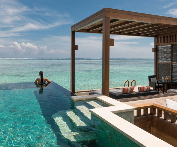 Private pool in Maldives