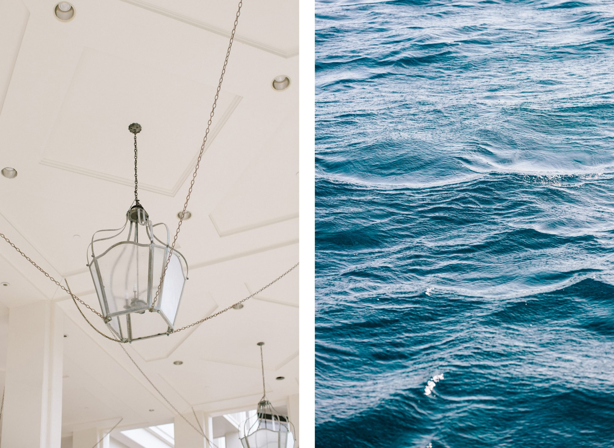 Oahu light fixture, ocean surface comparison