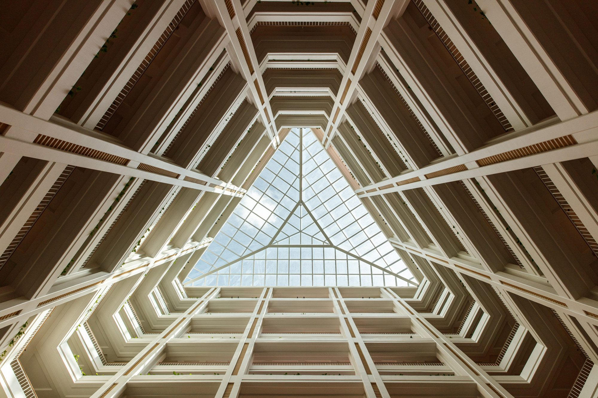 Triangular skylight window Oahu