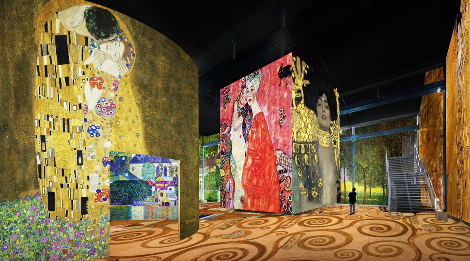Artwork on display at L'Atelier des Lumières in Paris.