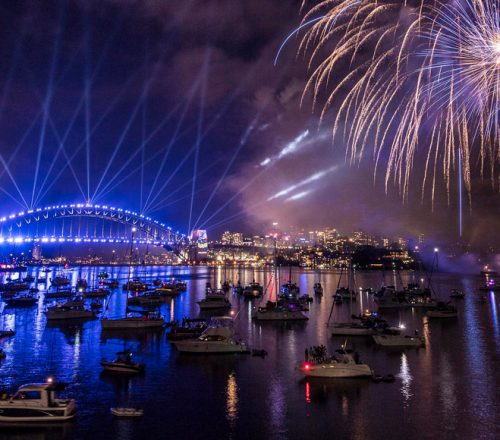 New Year's Eve fireworks in Sydney Harbour
