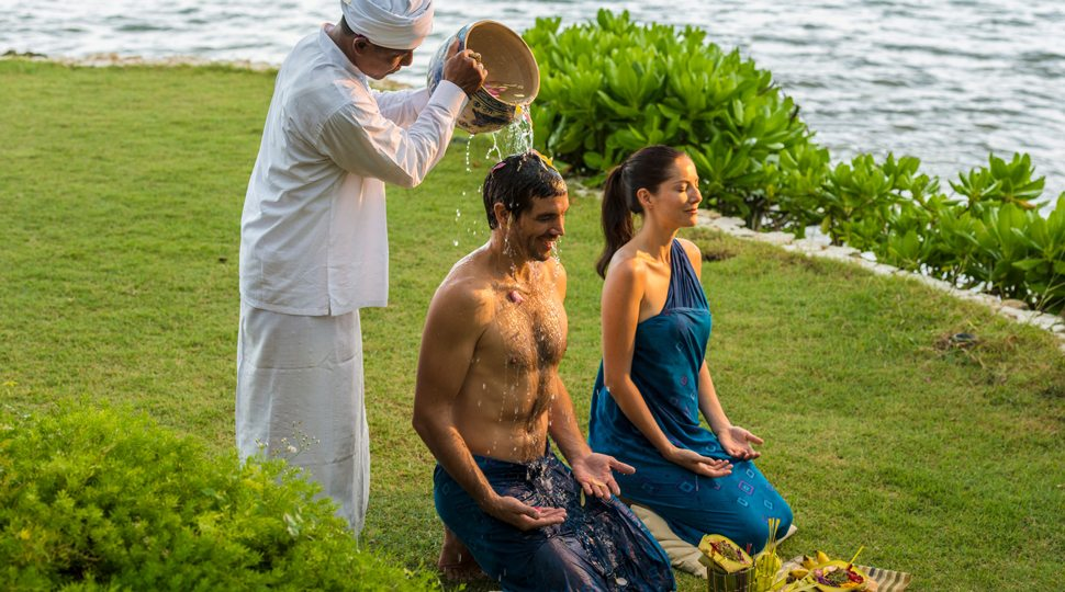 Couples spa ritual in Bali