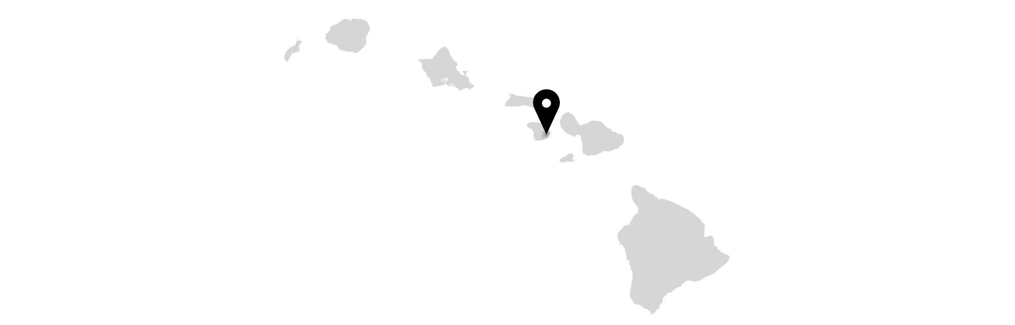 Lanai on Hawaii map