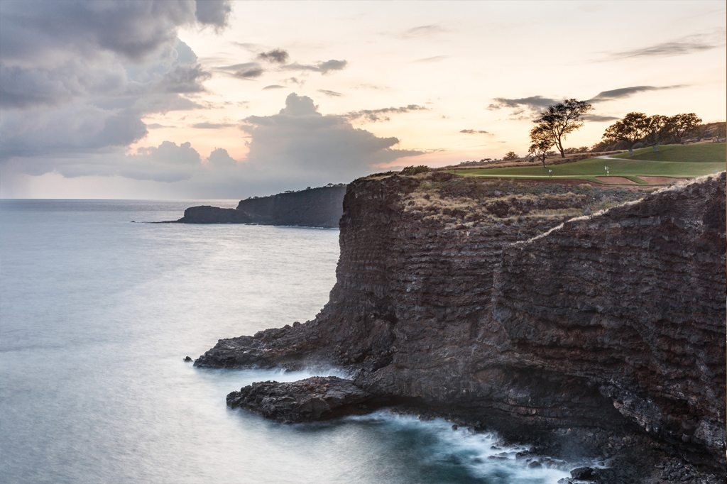 Coastal golf course in Lanai
