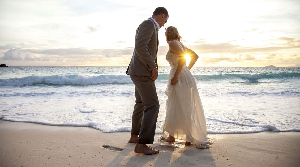 Newlyweds at Four Seasons Resort Hualalai
