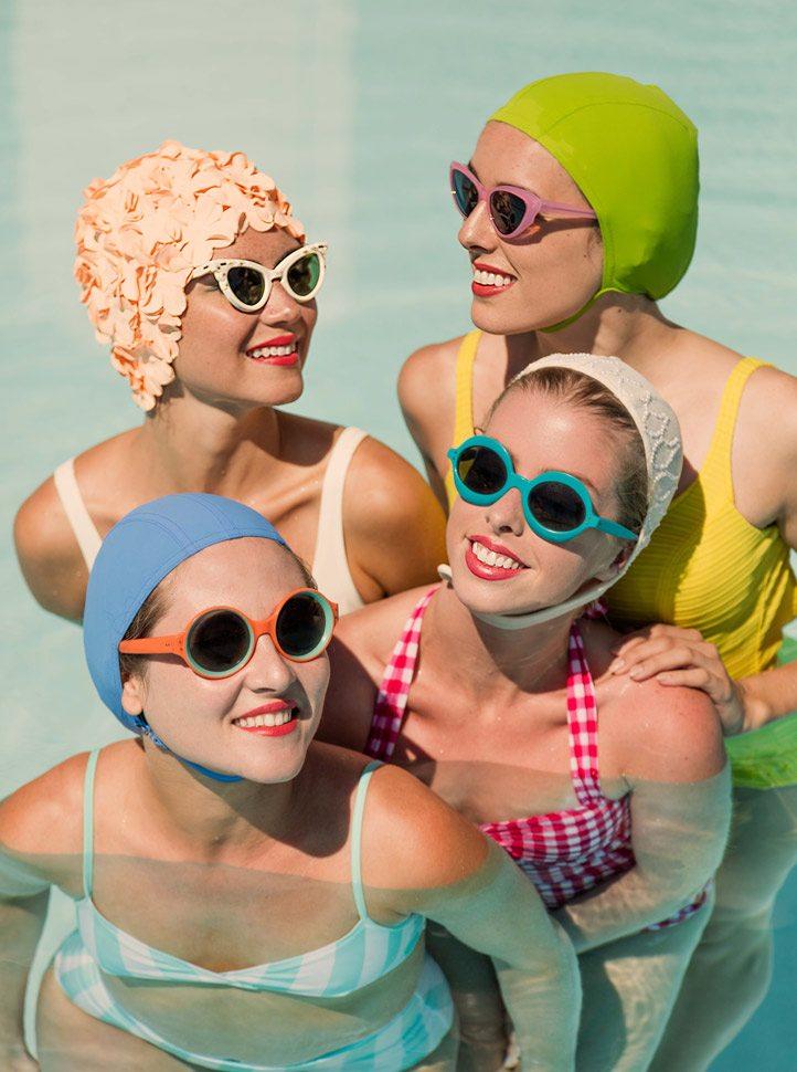 Four women in a pool