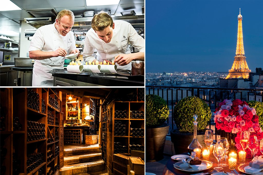 Wine cellar and candlelit dinner in Paris