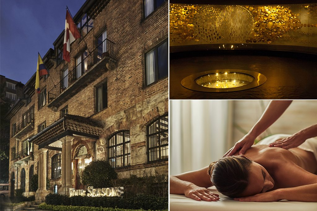 Scenes from Four Seasons Hotel Casa Medina in Bogotá