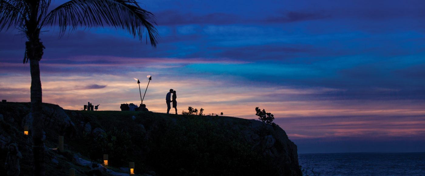 Couple in a romantic setting