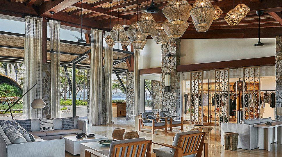 The open-air lobby at Four Seasons Resort Costa Rica at Peninsula Papagayo.