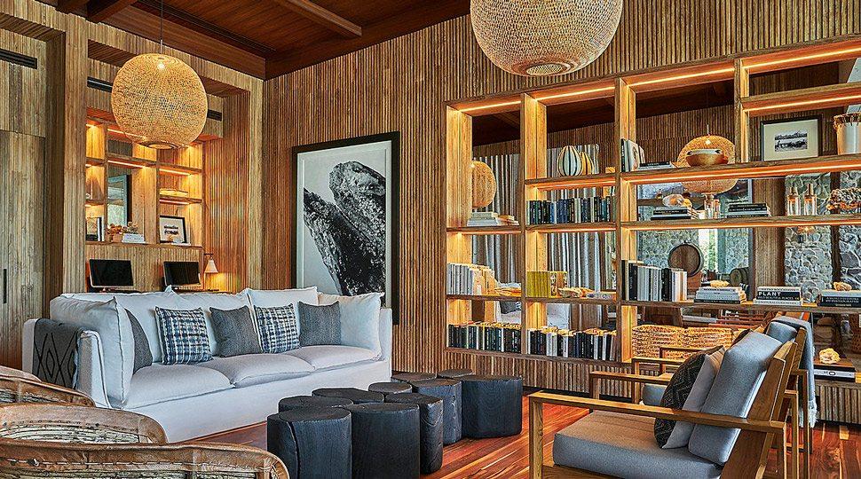 The library at Four Seasons Resort Costa Rica at Peninsula Papagayo