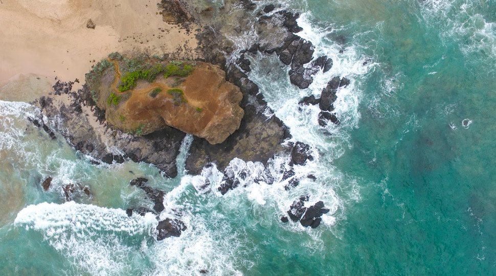 The rugged coast of Costa Rica