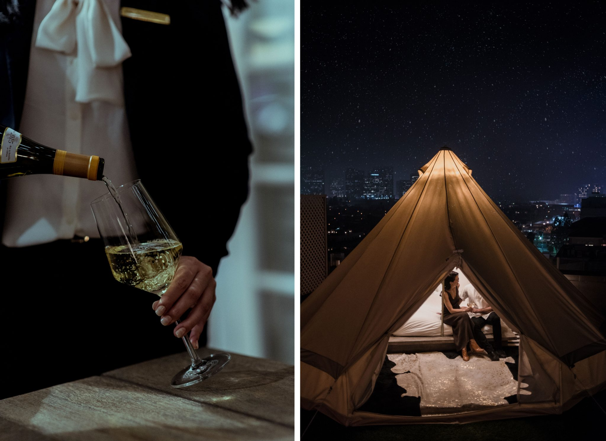 Glamping at Beverly Wilshire