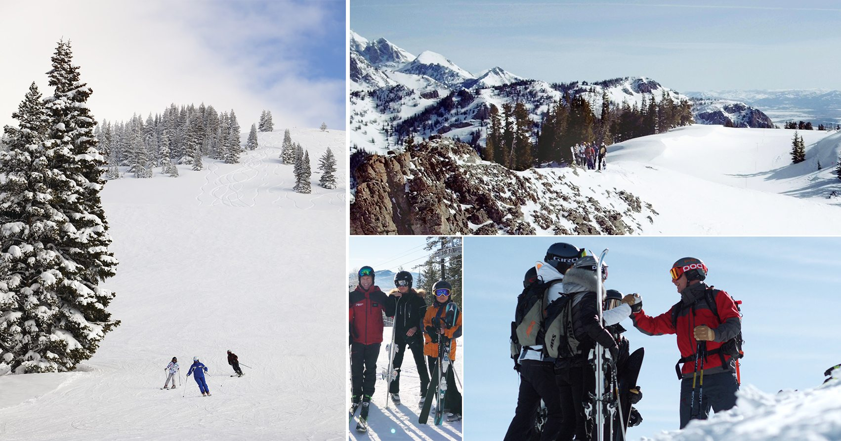 Skiing in Vail and Jackson Hole