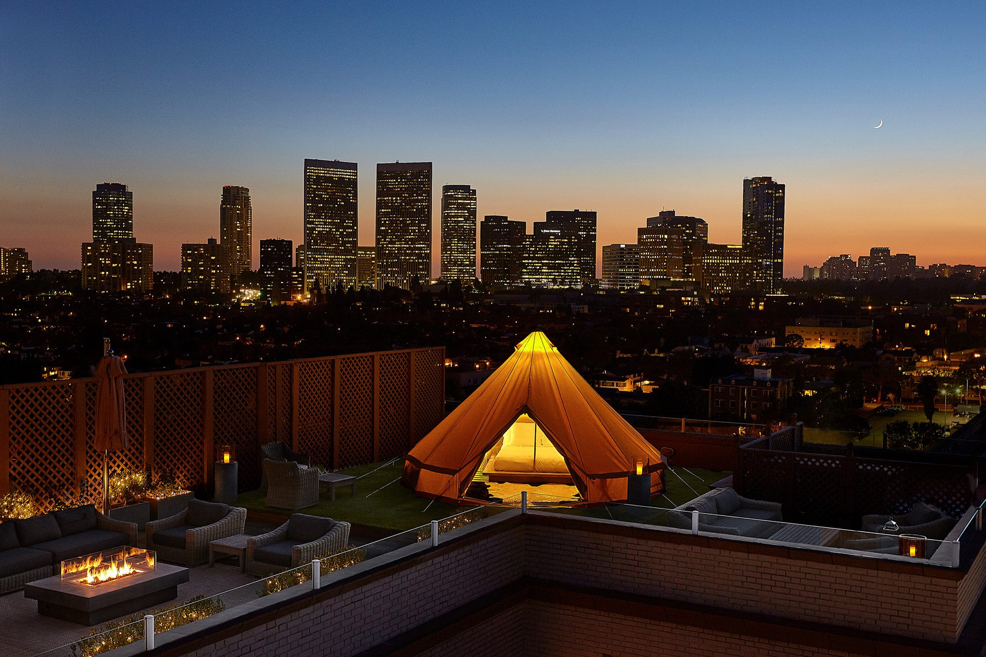 View of Los Angeles from private 2,140-square-foot terrace