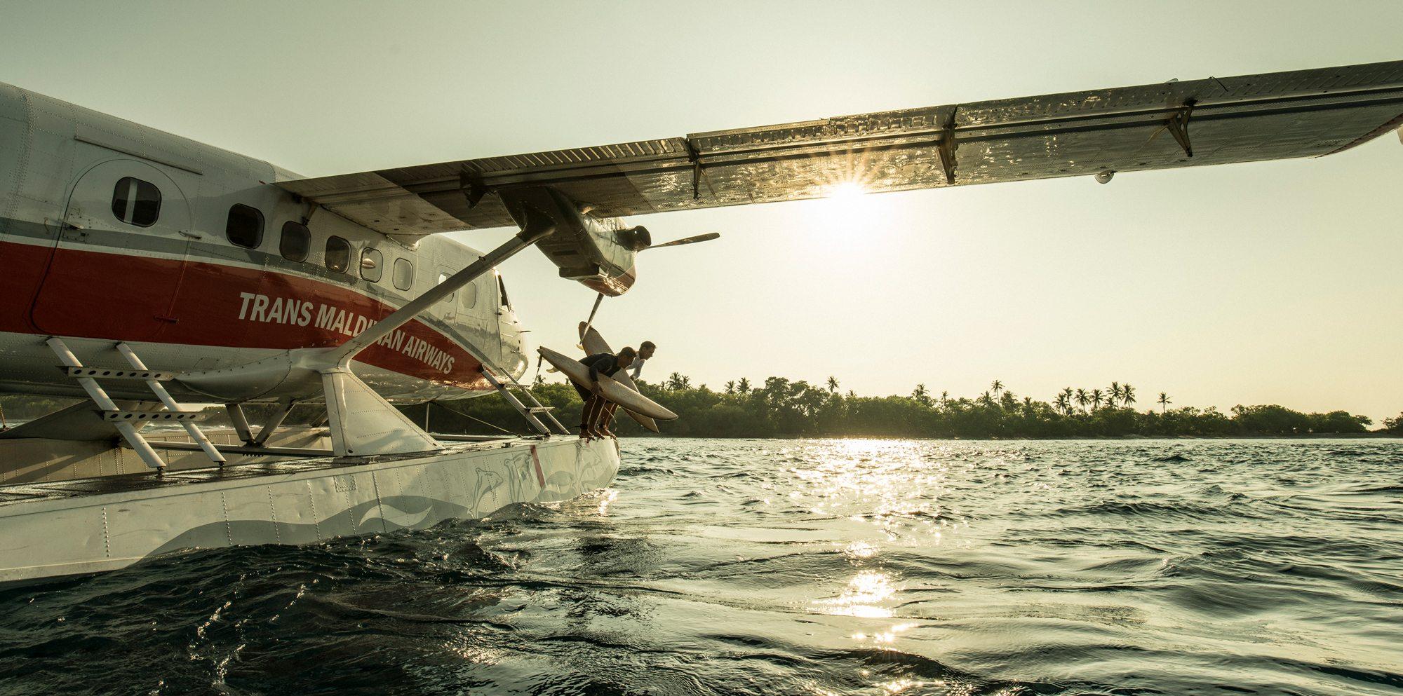 Seaplane Surfing in Maldives