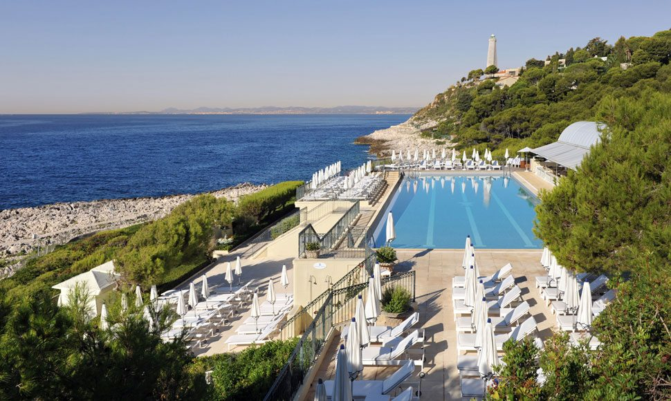 Club Dauphin pool in Cap Ferrat