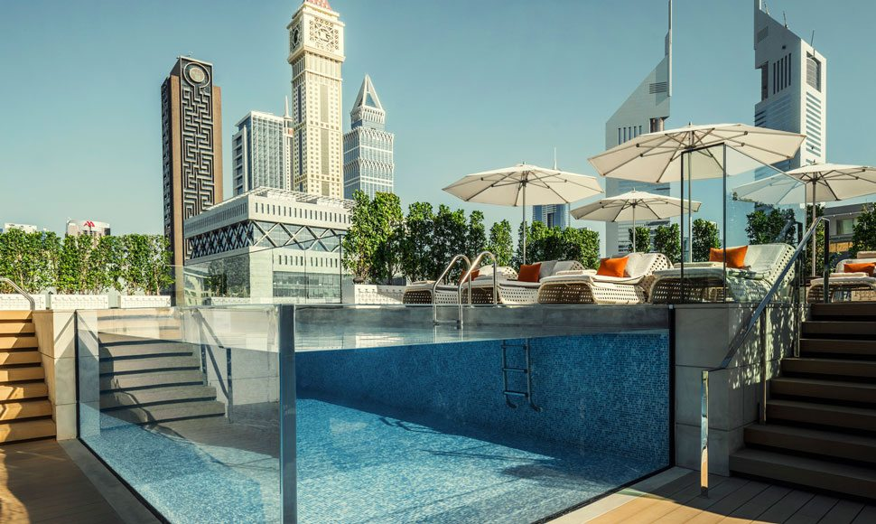 Pool at Four Seasons Hotel Dubai DIFC