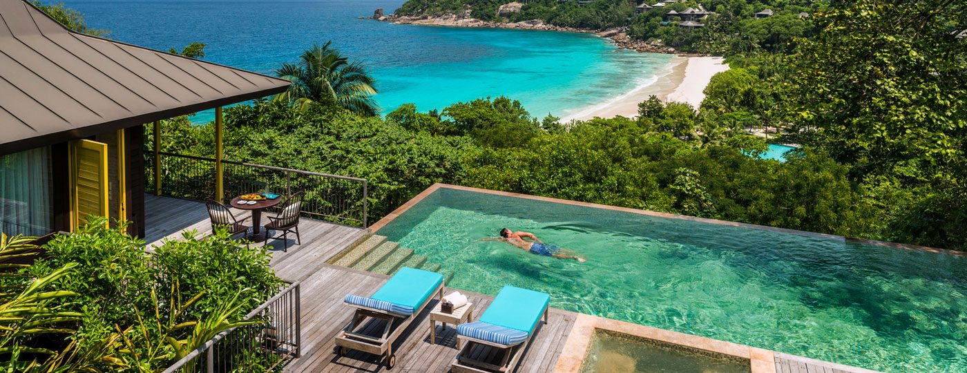 Private plunge pool in Seychelles