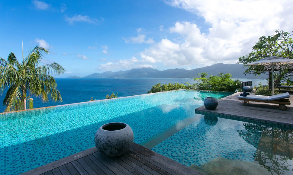 Plunge pool in Seychelles