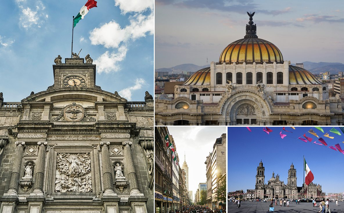 Popular sights around the Centro district of Mexico City.