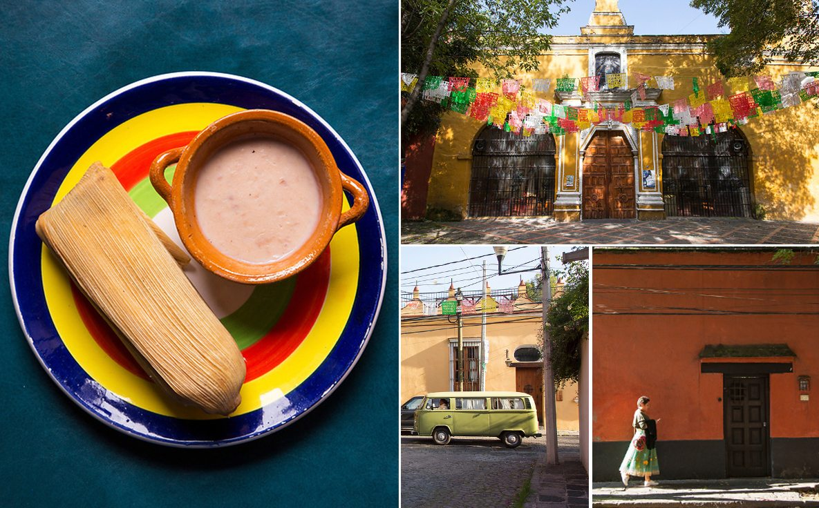 Popular sights around the Coyoacan neighborhood of Mexico City.