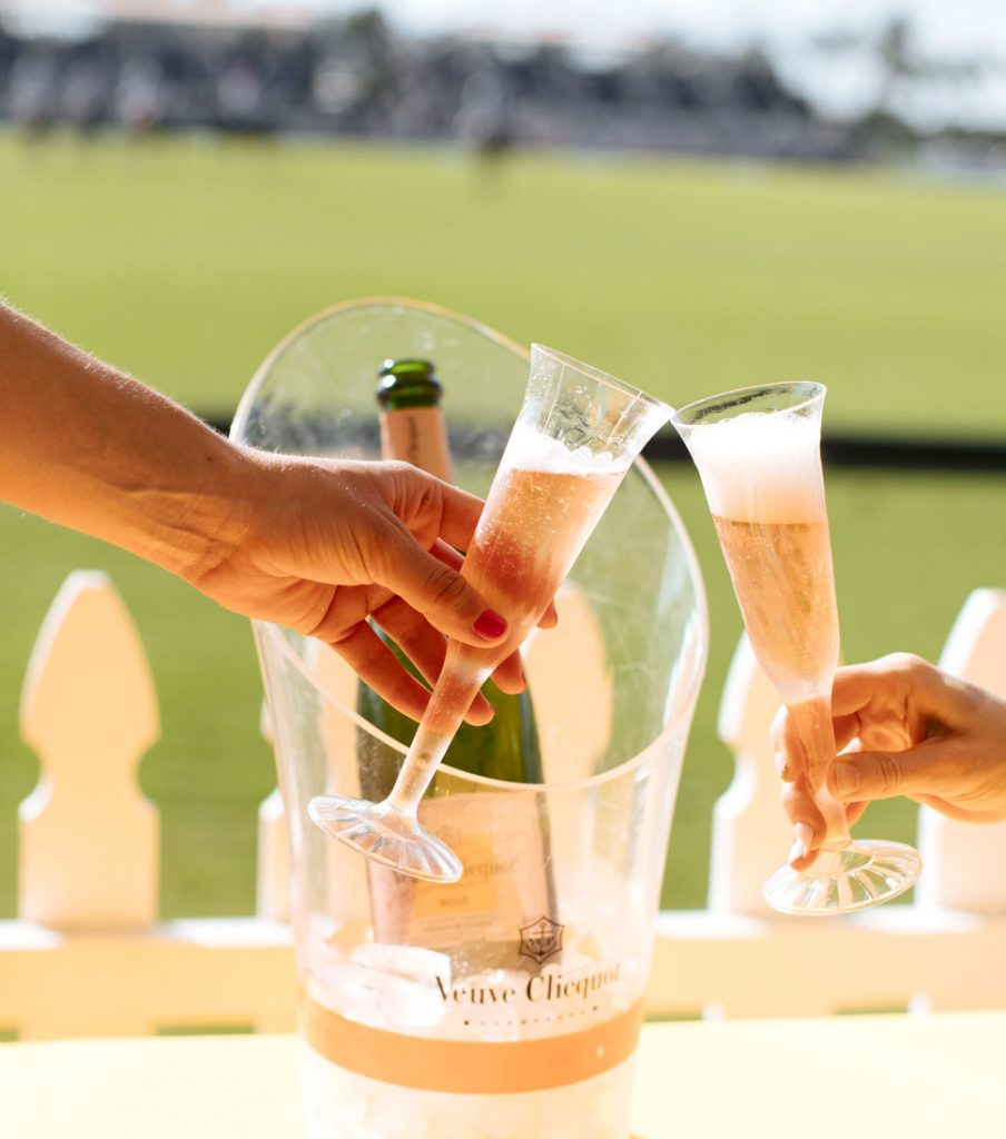 Champagne at a polo match