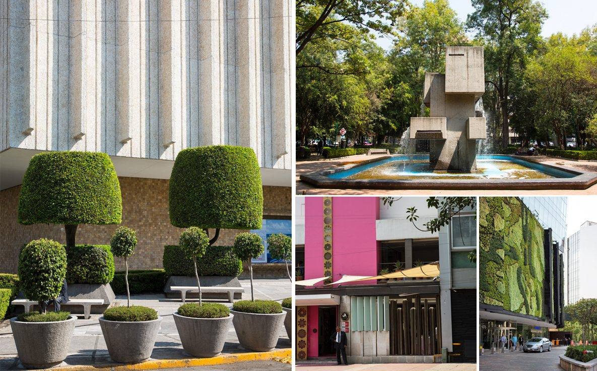 Popular sights around the Polanco neighborhood of Mexico City.