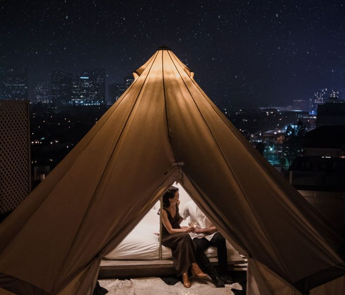 Glamping in Beverly Hills