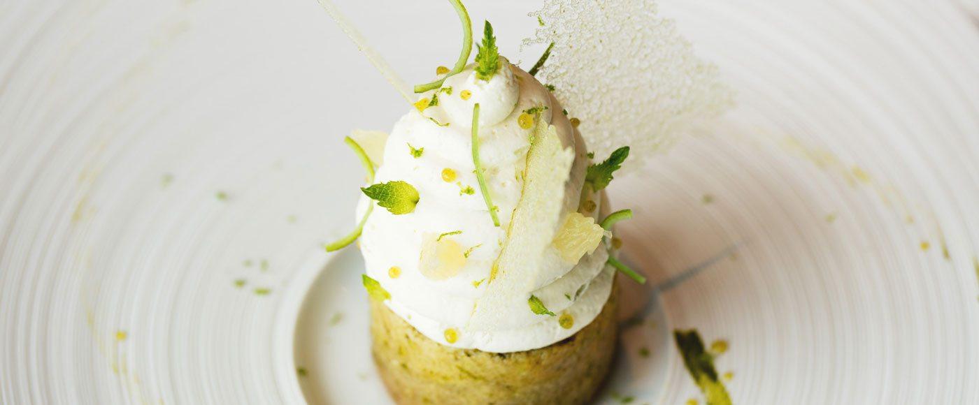 Le Baba au Rhum Mojito dessert