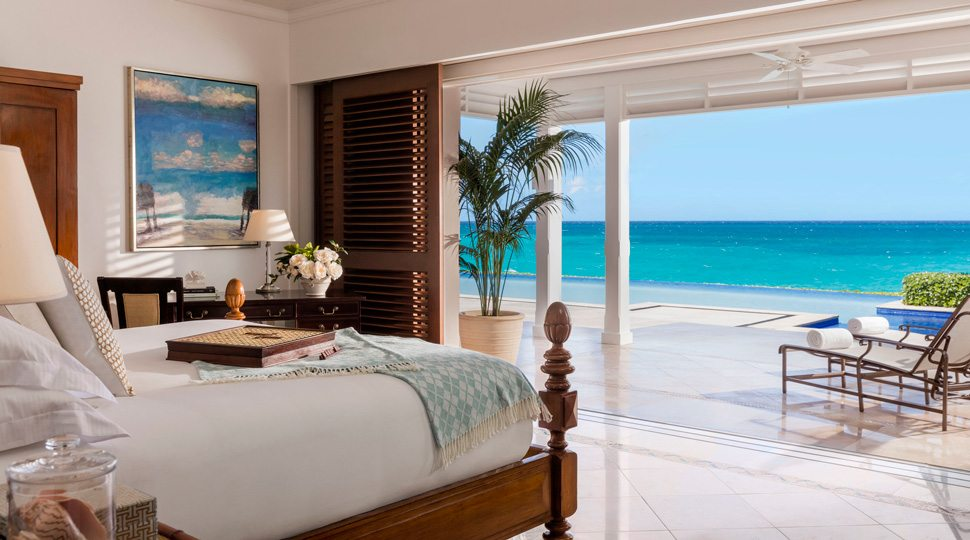 Ocean Club villa master bedroom