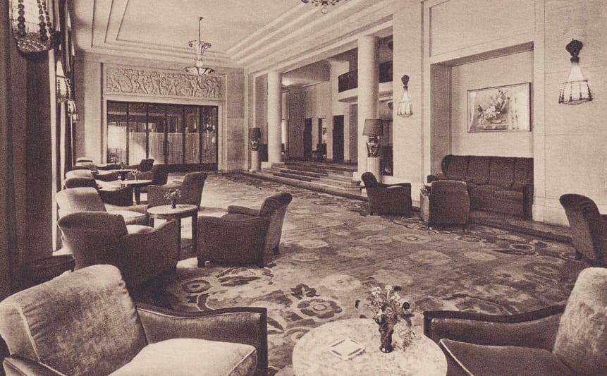 George V lobby vintage