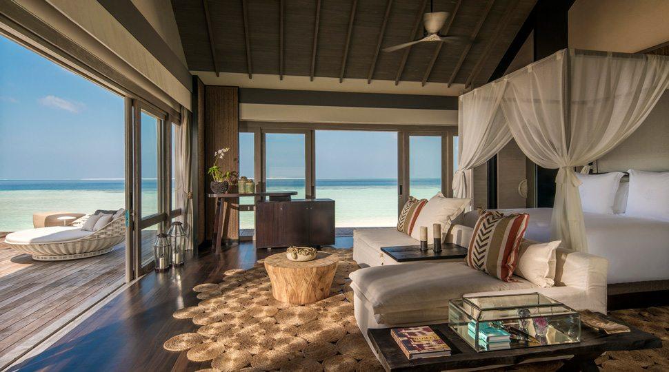 Maldives Private Island beach villa master