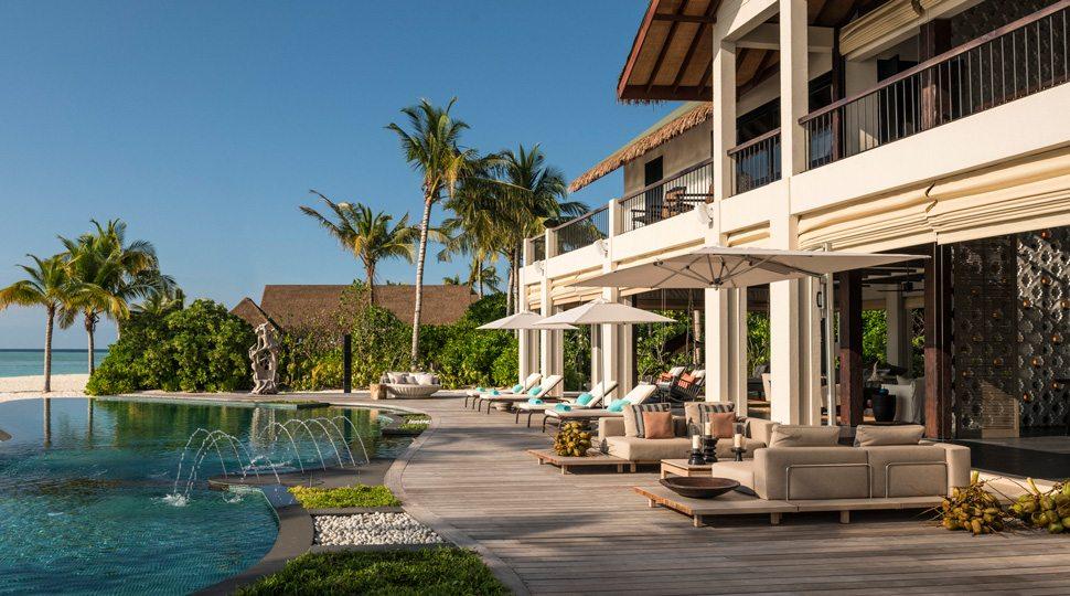Maldives Private Island villa and pool