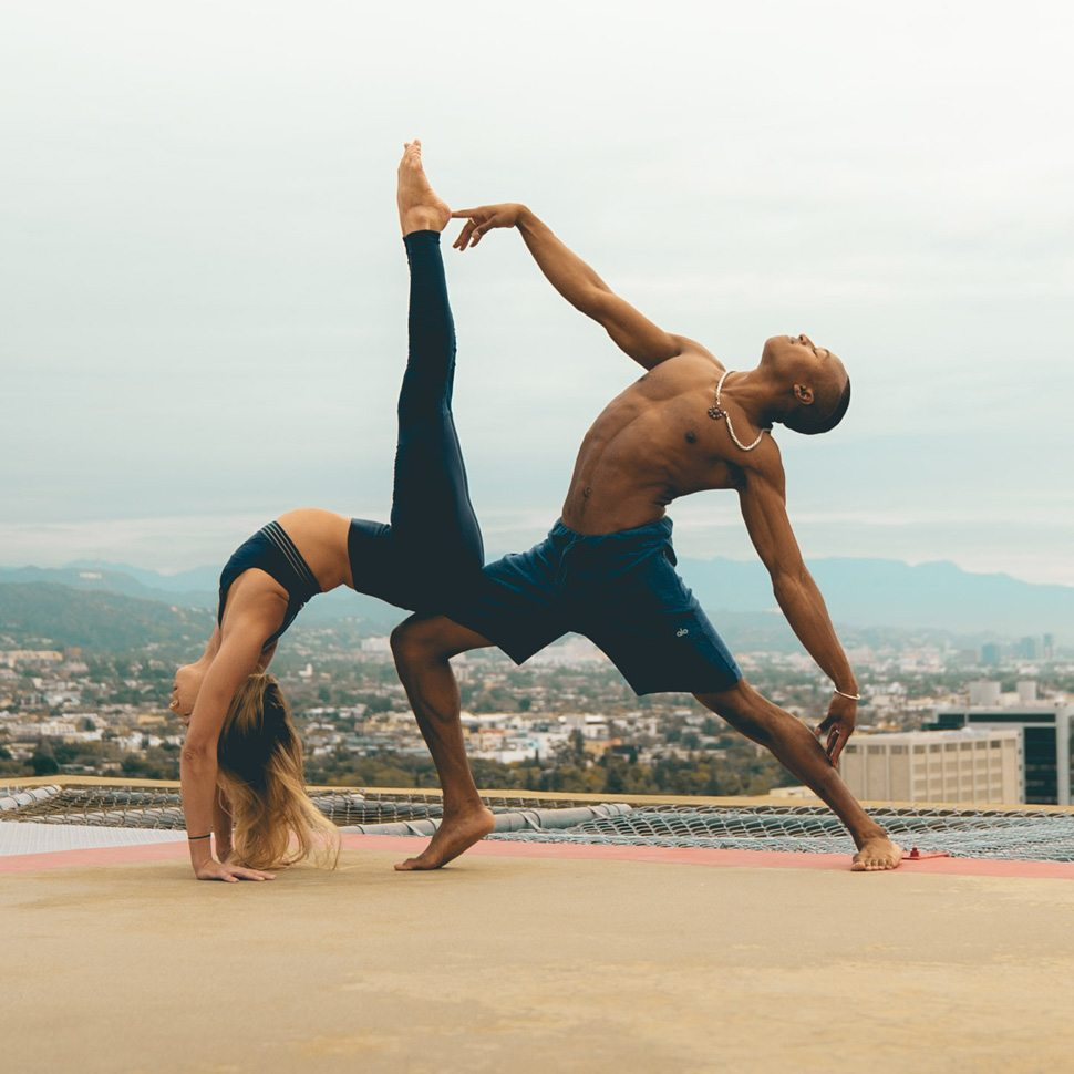 Partner yoga in LA