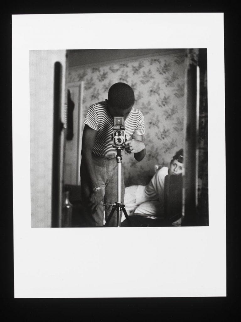 Armet Francis 'Self-portrait in Mirror', 1964 printed 2012 Gelatin silver print