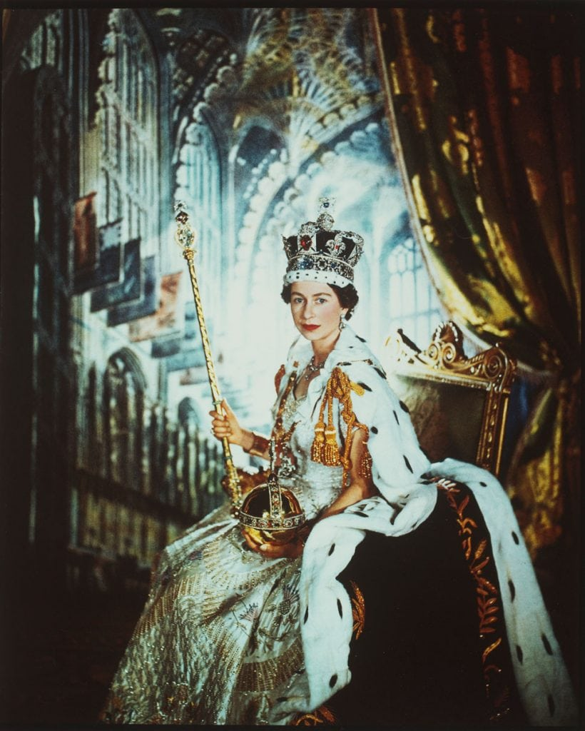 "Cecil Beaton ""Queen Elizabeth II Coronation Day"" 1953 Gelatin Silver Print in the Victoria and Albert Museum in London"