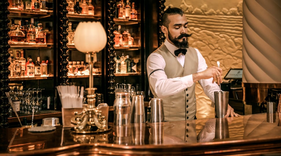 Bartender at Rotunda Bar in London