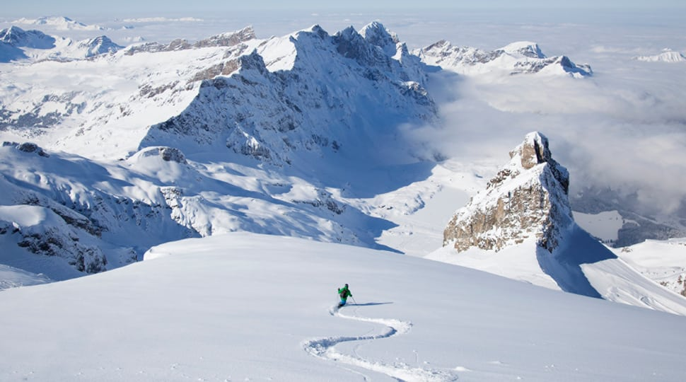 Skiiing in the Alps
