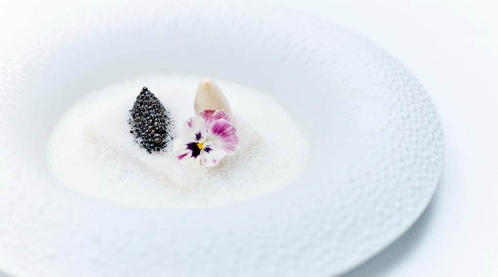 Sea Bass With Buttermilk and Caviar