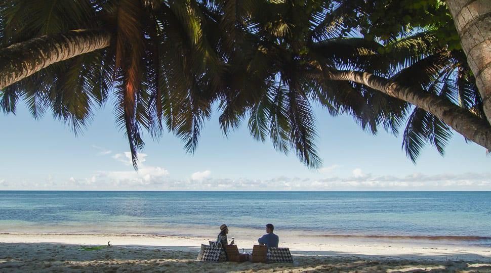 Seychelles Desroches Island beach